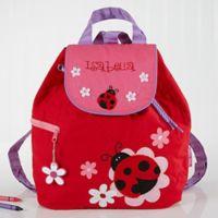 Ladybug Embroidered Kids Backpack