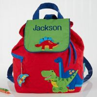 Red Dino Embroidered Kids Backpack