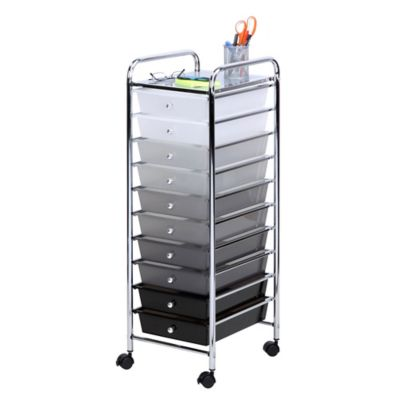 Honey Can Do® 10 Drawer Shaded Storage Cart