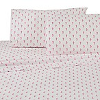Southern Tide Seahorses King Sheet Set in White/Pink