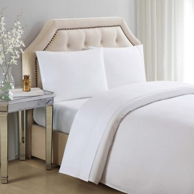 charisma queen solid sheet set in white