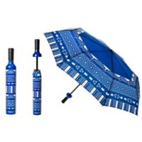 Wine Bottle Umbrella in Blue