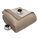 Therapedic® Sherpa Reversible King Warming Blanket in Linen