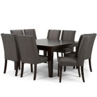 Simpli Home Sotherby 9-Piece Dining Set in Grey