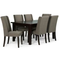 Simpli Home Sotherby 7-Piece Dining Set in Mocha