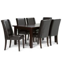 Simpli Home Sotherby 7-Piece Dining Set in Brown