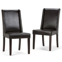 Simpli Home Sotherby Dining Chairs in Brown (Set of 2)