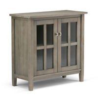 Simpli Home Warm Shaker 32-Inch Low Storage Cabinet in Distressed Grey