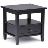 Simpli Home Warm Shaker 20-Inch End Table in Black