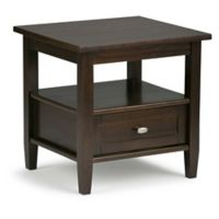 Simpli Home Warm Shaker 20-Inch End Table Tobacco Brown