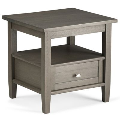 Simpli Home Warm Shaker 20-Inch End Table in Grey - Buy Grey End Table From Bed Bath & Beyond