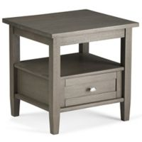 Simpli Home Warm Shaker 20-Inch End Table in Grey