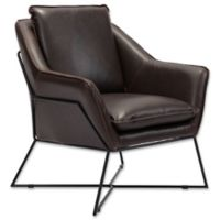 Zuo® Lincoln Dining Chair in Brown Faux Leather