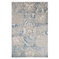 Nottingham Home Vintage Patchwork 5-Foot x 7-Foot 7-Inch Area Rug in Beige/Blue