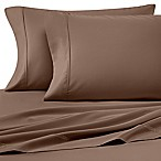 Heartland® HomeGrown™ 400-Thread-Count Solid Sateen Queen Sheet Set in Light Brown