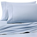 Heartland® HomeGrown™ 400-Thread-Count Solid Sateen Queen Sheet Set in Light Blue