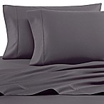 Heartland® HomeGrown™ 400-Thread-Count Solid Sateen Twin Sheet Set in Grey