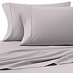 Heartland® HomeGrown™ 400-Thread-Count Solid Sateen Queen Sheet Set in Silver