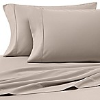 Heartland® HomeGrown™ 400-Thread-Count Solid Sateen Queen Sheet Set in Stone
