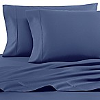 Heartland® HomeGrown™ 400-Thread-Count Solid Sateen Queen Sheet Set in Blue