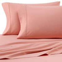 Heartland® HomeGrown™ 400-Thread-Count Solid Sateen Queen Sheet Set in Peach