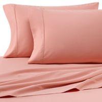 Heartland® HomeGrown™ 400-Thread-Count Solid Sateen King Sheet Set in Peach