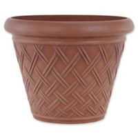 Arcadia Garden Products Basket Weave Pot in Terracotta