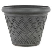 Arcadia Garden Products Basket Weave Pot in Dark Charcoal