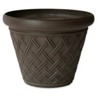 Arcadia Garden Products Basket Weave Pot in Chocolate
