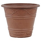 Arcadia Garden Products Western Weave Planter Pot in Terracotta