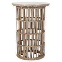 Safavieh Fane Indoor/Outdoor Concrete Side Table in Dark Grey