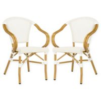 Safavieh Burke All-Weather Stacking Chairs in Beige (Set of 2)