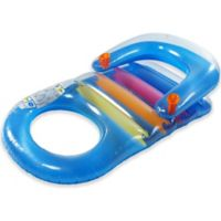 Pool Central Inflatable Classic Pool Lounger in Blue