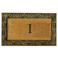 """Home & More Prestige Monogram Letter """"I"""" 18-Inch x 30-Inch Door Mat in Gold"""