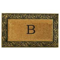 """Home & More Prestige Monogram Letter """"B"""" 18-Inch x 30-Inch Door Mat in Gold"""
