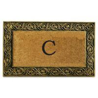 """Home & More Prestige Monogram Letter """"C"""" 18-Inch x 30-Inch Door Mat in Gold"""