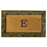 "Home & More Prestige Monogram Letter ""E"" 18-Inch x 30-Inch Door Mat in Gold"