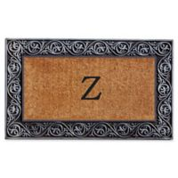"Home & More Prestige Monogram Letter ""Z"" 18-Inch x 30-Inch Door Mat in Silver"