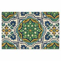 Nourison Waverly Greetings 2' x 3' Door Mat in Bluebell