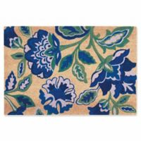 Nourison Waverly Greetings 2' x 3' Door Mat in Navy