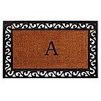 "Home & More Rembrandt Monogram Letter ""A"" 22-Inch x 36-Inch Door Mat"