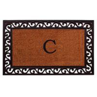 """Home & More Rembrandt Monogram Letter """"C"""" 22-Inch x 36-Inch Door Mat"""
