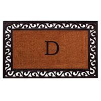 """Home & More Rembrandt Monogram Letter """"D"""" 22-Inch x 36-Inch Door Mat"""
