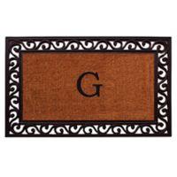 "Home & More Rembrandt Monogram Letter ""G"" 22-Inch x 36-Inch Door Mat"