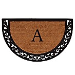 "Home & More Ornate Scroll Monogram Letter ""A"" 24-Inch x 36-Inch Slice Door Mat"