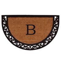 "Home & More Ornate Scroll Monogram Letter ""B"" 18-Inch x 30-Inch Slice Door Mat"