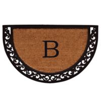 "Home & More Ornate Scroll Monogram Letter ""B"" 24-Inch x 36-Inch Slice Door Mat"