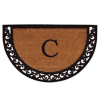 "Home & More Ornate Scroll Monogram Letter ""C"" 24-Inch x 36-Inch Slice Door Mat"