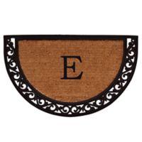 "Home & More Ornate Scroll Monogram Letter ""E"" 24-Inch x 36-Inch Slice Door Mat"