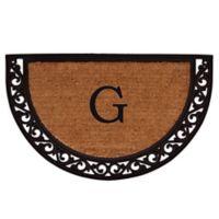 "Home & More Ornate Scroll Monogram Letter ""G"" 24-Inch x 36-Inch Slice Door Mat"